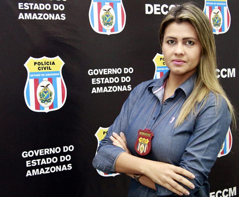 Delegada Andrea Nascimento, titular da DECCI