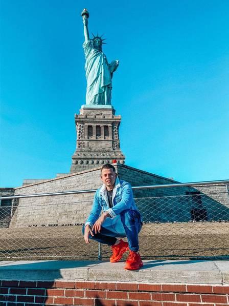 Bruno Vinícius foi a Nova York à convite de marca famosa