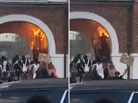 Manifestante se incendeia durante protesto contra a morte de George Floyd