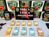 Força Tática prende dupla por roubo e apreende R$ 51 mil em espécie