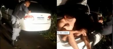 Motorista de aplicativo é resgatado em porta-malas de veículo na Praia Dourada; vídeo