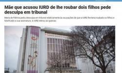 Portuguesa que acusou igreja de roubar seus filhos pede desculpa
