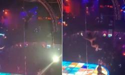 Dançarina viraliza após cair de pole dance de 6m de altura e continuar apresentação. Veja vídeo