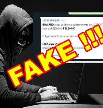 FAKE NEWS! É falsa a mensagem que pede agendamento para poder receber o auxílio emergencial do Governo Federal