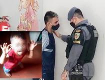 Pai que gravou vídeo espancando o filho é preso e faz acusações; veja vídeo