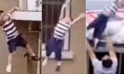 Vídeo: homem agarra menino de 2 anos que caiu do quinto andar de prédio