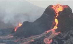 Vídeo mostra imagens incríveis de lava borbulhando em vulcão