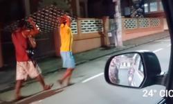 Vídeo: trio é obrigado a devolver tampa de bueiro furtada no Centro de Manaus
