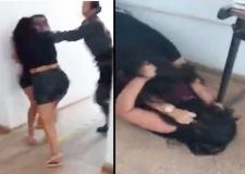 Vídeo: namorada e amante brigam por homem em delegacia