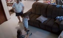 Babá é presa em flagrante por lesão corporal contra criança de dois anos; veja vídeo