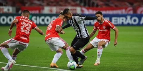 Com gol relâmpago, Atlético-MG vence o Internacional no Beira-Rio