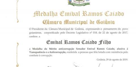Medalha de Mérito anticorrupção foi entregue para Governador de Goiás e 12 relevantes personalidades