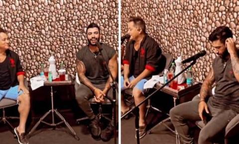 Gusttavo Lima e Leonardo ensaiam para live: 'Preparem o fígado'