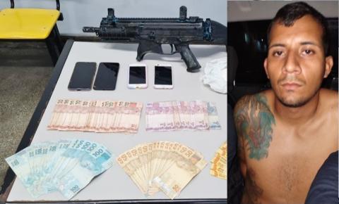 Mais um mandante de ataques em Manaus é preso com submetralhadora