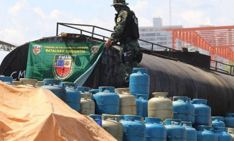 Batalhão Ambiental apreende carga ilegal com mais de cinco mil botijões de gás