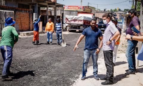 Marcos Rotta fiscaliza obras de infraestrutura no bairro Santa Etelvina