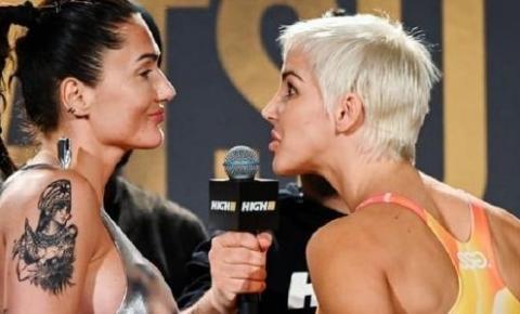 Vídeo! Lutadora de MMA tenta colocar vibrador no rosto de rival em encarada