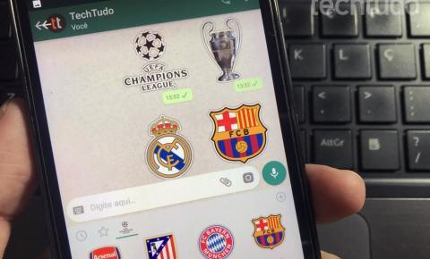 Como instalar e usar figurinhas de time de futebol no WhatsApp