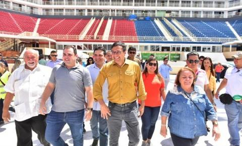 Governador Wilson Lima entrega Bumbódromo de Parintins reformado e com iluminação mais eficiente