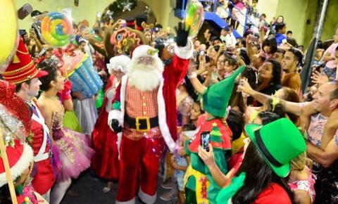 Chegada do Papai Noel terá espetáculo de Natal no parque da Criança