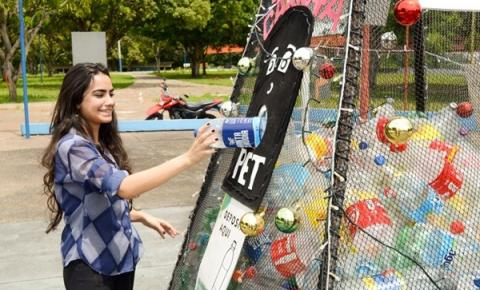 Vila Olímpica de Manaus ganha 'Espaço PET' para coleta de garrafas plásticas