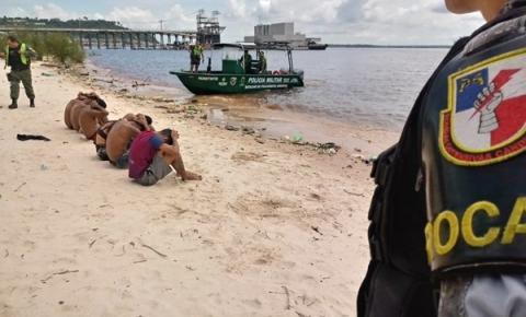 Polícia Militar, em ação conjunta, detém sete suspeitos no bairro Mauazinho, na zona leste