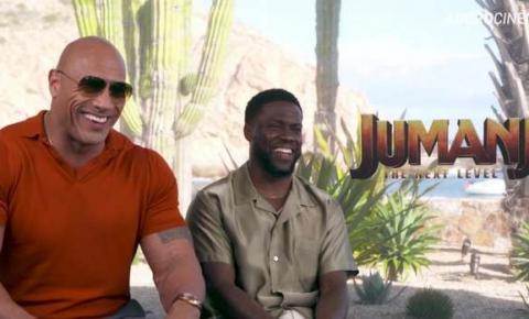 Jumanji: 'Sou um mestre da comédia', brinca Dwayne Johnson depois de improvisar à la Danny DeVito