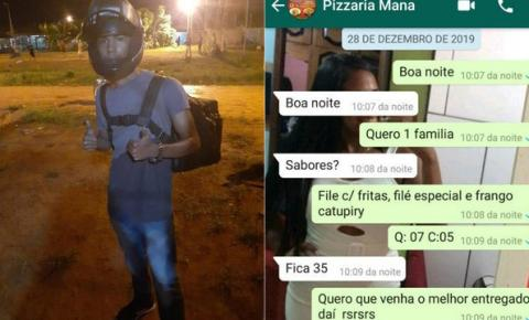 Mãe faz pedidos semanais a pizzaria para apoiar filho entregador no Acre