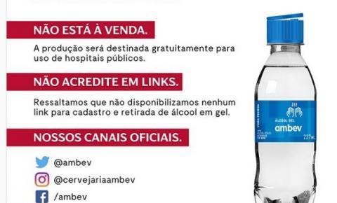 FAKE! Cervejaria alerta para falsa promoção de álcool em gel