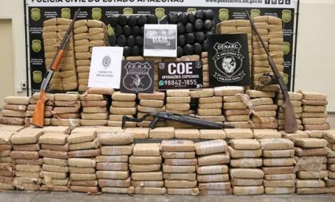 Em Maraã, polícia apreende meia tonelada de drogas avaliada em R$ 2,1 milhões