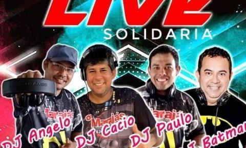 DJ´s realizam live solidária com as melhores do flash back no próximo sábado (25)