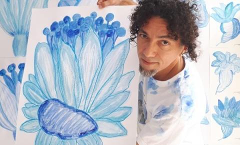 Artista plástico cria série de obras para trocar por doações no Teatro Amazonas