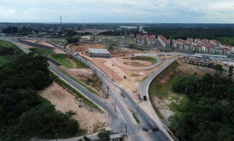Tráfego de veículos na Torquato Tapajós será alterado para continuidade de obras do Anel Sul