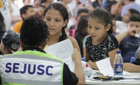 Sejusc realiza ação de cidadania com emissão de documentos na quarta edição do 'Muda Manaus'
