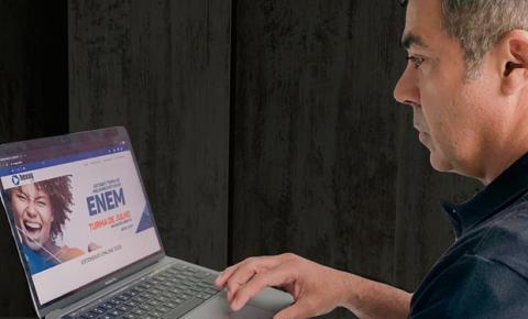Plataforma on-line garante aulas de curso pré-vestibular durante a pandemia