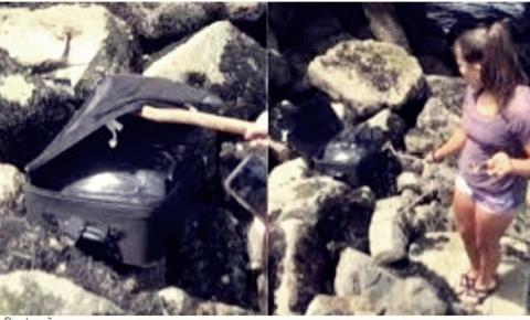 Jovens encontram corpo esquartejado dentro de mala ao gravar vídeo para a plataforma Tik Tok