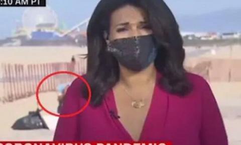 Vídeo: mulher abaixa as calças durante entrevista ao vivo e faz número 2