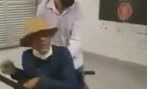 """Vídeo: """"cadeirante"""" briga no metrô e sai correndo para fugir de seguranças"""