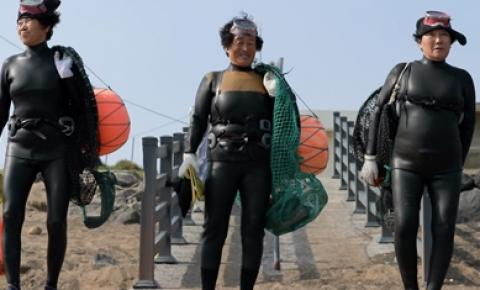 Parceira da Canon mostra vovós mergulhadoras da Coreia do Sul no Domingão do Faustão