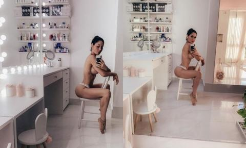 Mayra Cardi faz topless e ostenta corpão saradíssimo