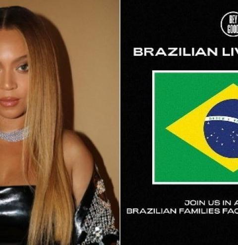Projeto social de Beyoncé lança campanha contra a fome no Brasil