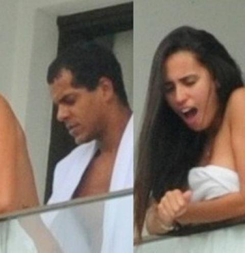 FLAGRA: Ator 'pega' morena na varanda de hotel no Rio